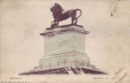 D7 5 - BELGIQUE - WATERLOO - (1900) Piedestal Du Lion - Nr 1 E.G. - Waterloo