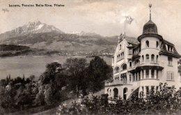 Luzern - Pension Belle-Rive - Pilatus. Juillet 1914 - LU Lucerne