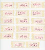 Singapore 1995-Orchidées,Timbres Automate-série De 17 Valeurs***mnh - Orchidee