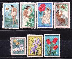 Grecia 1958- Mitologia E Fiori - Nuovi Ed Usati - Usati
