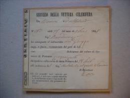 Bolla Di Consegna Servizio Della Vettura Celerifera Como-Alessandria 1848 - Fatture & Documenti Commerciali