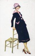 Illustrée Signée Suzanne MEUNIER : Parisienne à La Mode 1917 - Meunier, G.