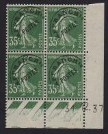 Semeuse 35c Vert - Préoblitéré - Coin Daté - 1937 - 1930-1939