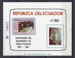 PINTURA/PICASSO - ECUADOR 1981 - Yvert #H57 - MNH ** - Picasso