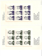 USA AMERIPEX 1986 INTERNATIONAL STAMPSHOW PRESIDENTS 4 BLOCS MNH - United States