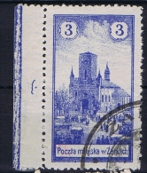 Poland Local Issues 1918 Zarki, Mi 1 Cancelled, 2x Signed MKSTN With Sheetmargin - Gebraucht