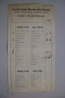 Documento Tarif De Blanchissage - Sociètà Grandi Alberghi Della Mendola (Trento). - Non Classificati