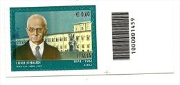 2012 - Italia 3383 Luigi Einaudi - Codice A Barre - 6. 1946-.. Repubblica