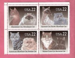 USA  CATS 1987  BLOCk Of 4 Stamps MNH - Etats-Unis