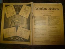 1928 LA TECHNIQUE MODERNE Et Aussi : La Construction Des AVIONS De Guerre Et De Voyage(Caudron,Potez,Morane,Farman Etc - Livres, BD, Revues