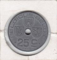 25 CENTIMES Zinc Léopold III 1942 FR/FL - 1934-1945: Leopold III