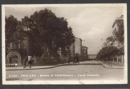 5760-PESCARA-RIVERA DI CASTELLAMARE-CORSO UMBERTO-1933-FP - Pescara
