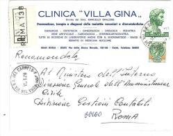 CAP 00100 - ROMA  - RM  - R  -  ANNO 1979  - CLINICA VILLA GINA  - STORIA POSTALE - 6. 1946-.. Repubblica