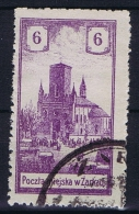 Poland Local Issues 1918 Zarki, Mi 7 Used