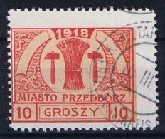 Poland Local Issues 1917 Przedbórz, Mi 6 Type 2, Used Signed Perfo 11,5