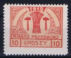 Poland Local Issues 1917 Przedbórz, Mi 6 Type 2, MH/* Perfo 11,5