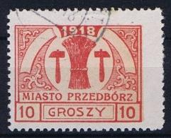 Poland Local Issues 1917 Przedbórz, Mi 6 Type 1, Used Signed Perfo 11,5
