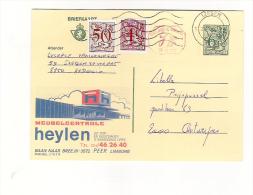 Publibel Obl. N° 2763+P 010  (Meubles HEYLEN - Peer)  Obl: Isegem  27/01/1985
