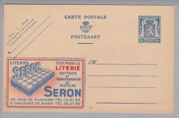"Motiv Haushalt Matratzen Belgische Privatganzsache Firma Seron ""Literie"" - Timbres"