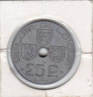 25 CENTIMES Zinc Léopold III 1944 FL/FR - 1934-1945: Leopold III