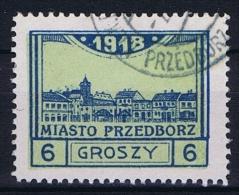 Poland Local Issues 1917 Przedbórz, Mi 5 Type 2, Signed Used Perfo 11,5