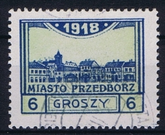 Poland Local Issues 1917 Przedbórz, Mi 5 Type 2, Signed Used, Perfo 11,5
