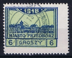 Poland Local Issues 1917 Przedbórz, Mi 5 Type 1, Used ,signed, Perfo 11,5 - ....-1919 Provisional Government