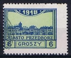 Poland Local Issues 1917 Przedbórz, Mi 5 Type 3, Used ,signed, Perfo 11,5