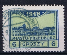 Poland Local Issues 1917 Przedbórz, Mi 5 Type 3, Used ,signed, Perfo 11,5 - ....-1919 Provisional Government