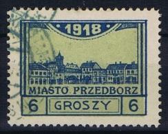 Poland Local Issues 1917 Przedbórz, Mi 5 Type 3, Used, Perfo 11,5 - ....-1919 Overgangsregering