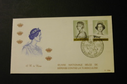 Belgium B278-79 Queen Astrid Queen Fabiola With Day Of Issue Cancel 1962 A04s - FDC
