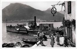 ST.WOLFGANG Im Salzkammergut, Dampferanlegestelle Mit Dampfschiff, Fotokarte Gel.194? - St. Wolfgang