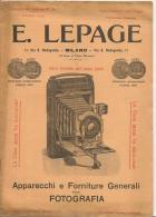 Catalogo Lepage Anno 1906 Apparecchi E Forniture Per Fotografia Pag.20 Cm.17,5x24 - Non Classificati