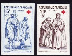 TIMBRE FRANCE NON DENTELE La Paire N° 1140/1141 Croix Rouge Gravures Jacques Callot Musée De NANCY- NEUF SANS CHARNIERES - France