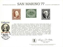 2 Souvenir Cards International Stamp Fairs (1977 & 1978) - Postzegels