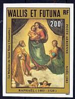 WALLIS & FUTUNA 1983 CHRISTMAS Imperforated MNH SC#C128 CV$22 RAPHAEL PAINTING (D0145) - Wallis And Futuna