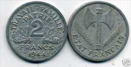 FRANCE  2 Francs  Bazor  1944 - France