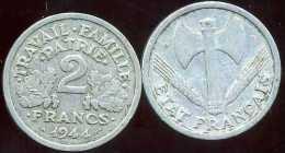 FRANCE  2 Francs  Bazor  1944 B - I. 2 Francs