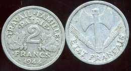 FRANCE  2 Francs  Bazor  1944 B - France