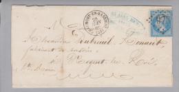 Heimat France Haute Marne(52) Chaumont En Bassigny Grosser Briefteil Nach Vogent - 1863-1870 Napoléon III Lauré