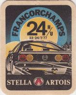 SOUS BOCK 24 HEURES DE FRANCORCHAMPS 1977 STELLA ARTOIS - Bierdeckel