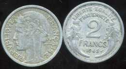 FRANCE  2 Francs  MORLON   1945 - France