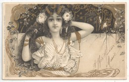 Jeune Femme - Art Nouveau - Raphael TUCK Serie 123 - Tuck, Raphael