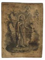 """IMAGE RELIGIEUSE Sur Vélin, 12,2 X 9,2 Cm, """"Pastor Bonus"""" - Images Religieuses"""