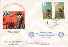 CHINA TAIWAN 1968 SUGAR CANE SC#1548-1549 FDC ROTARY=best Offer ??????????? - Taiwán (Formosa)