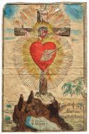 """IMAGE RELIGIEUSE Colorisée, 14,4 X 9,5 Cm, """"O Jesus ! O Marie ! """" - Images Religieuses"""