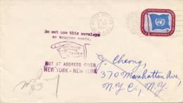 VN - FDC Met Adres - 1951 - New York – UN Headquarters