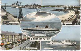 AK Saint-Nazaire, Port, Paquebot FRANCE, SAINT-BREVIN, Plage Villes-Martin - Saint Nazaire