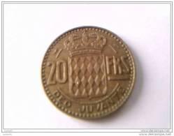 MONACO - 20 Francs 1951 - RAINIER III - - 1949-1956 Anciens Francs