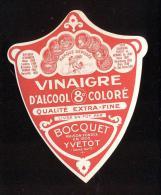 Etiquette  De Vinaigre D´Alcool Coloré  8°  -  Bocquet  à  Yvetot  (76) - Etiquettes